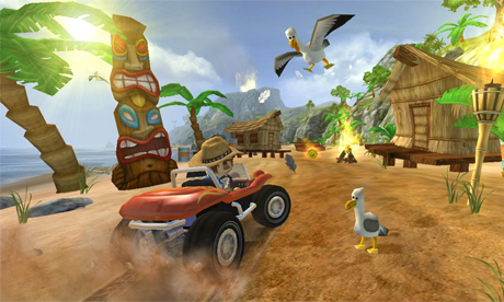 Beach Buggy Blitz is a fun, action-packed driving game