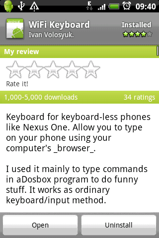 network keyboard with the Wi-Fi Keyboard app