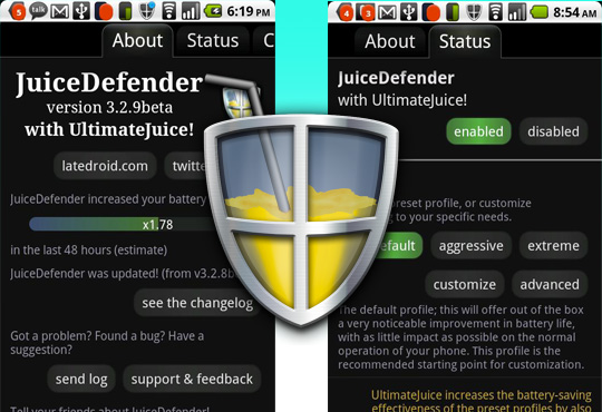 JuiceDefender Android application