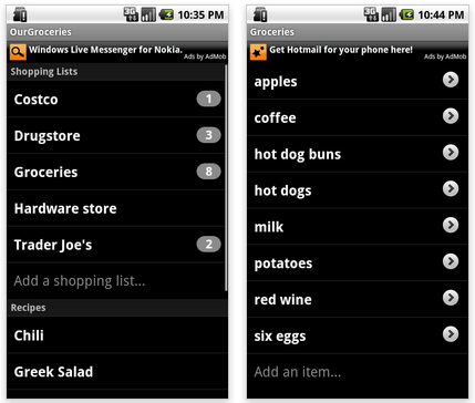 OurGroceries android app