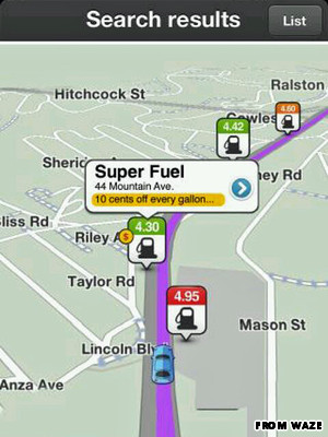 waze gas prices