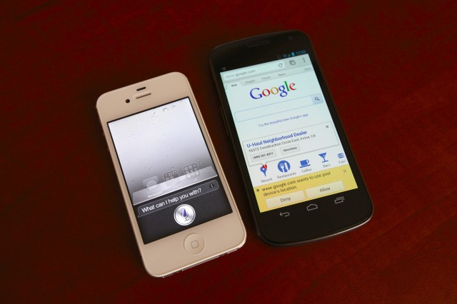 comparing Apple ios 6 and google