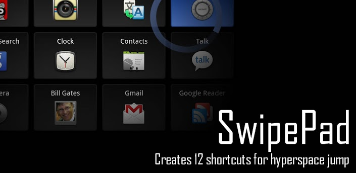 Use SwipePad to switch between apps on the fly