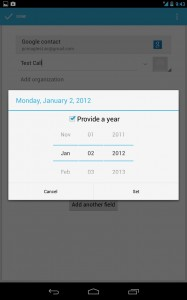 Android People App now has december
