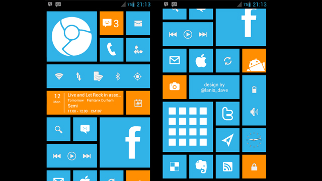 How to add Windows 8-style tiles to your Android