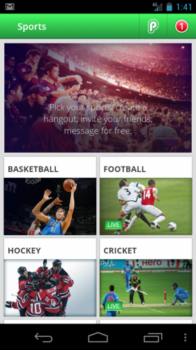 playup sports categories