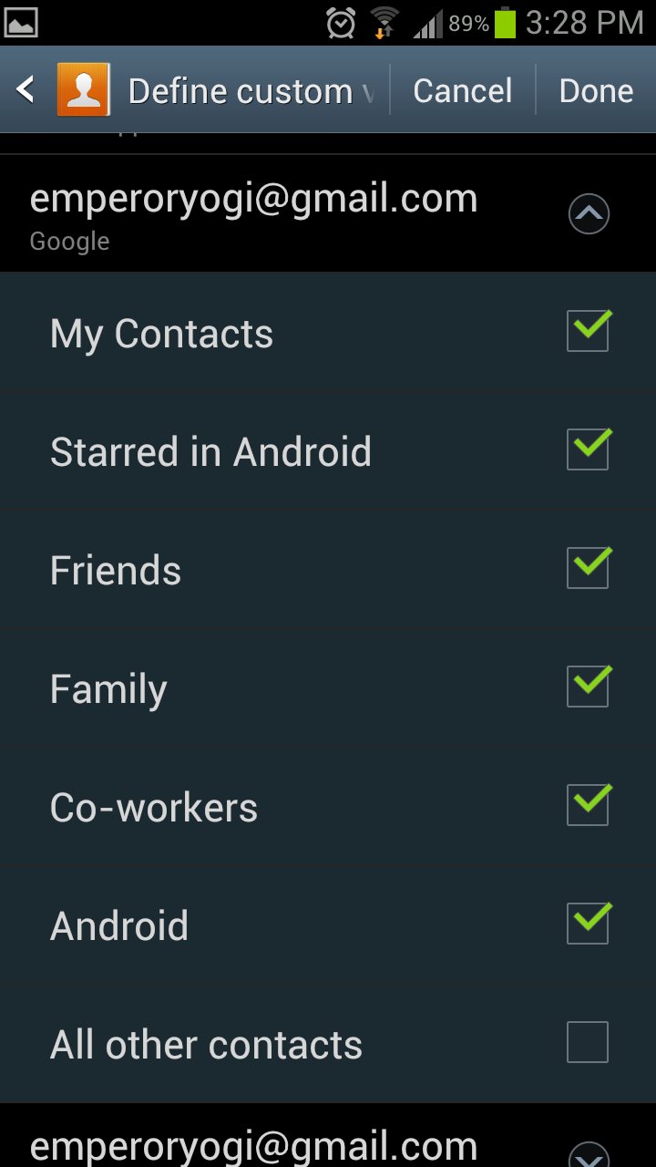 how to open contacts list in android