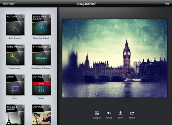 Snapseed was recently released as a free download onto the Google Play Store