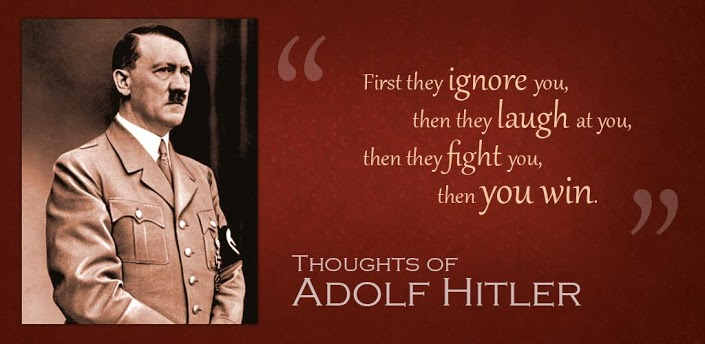 ... famous historical figure, Hitler shared a number of famous quotes that