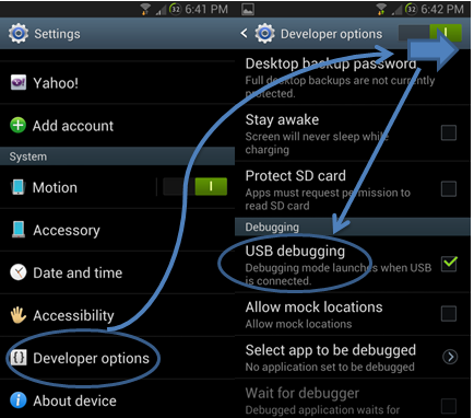 Enable Usb Debugging Mode For Android