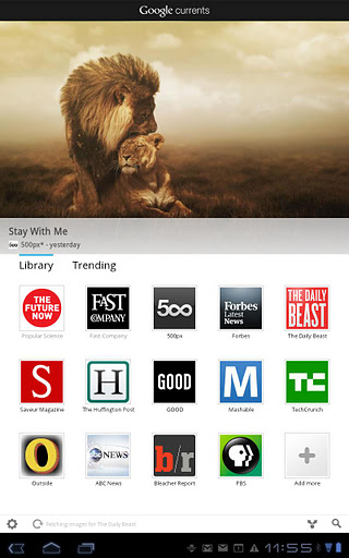Google Currents Library