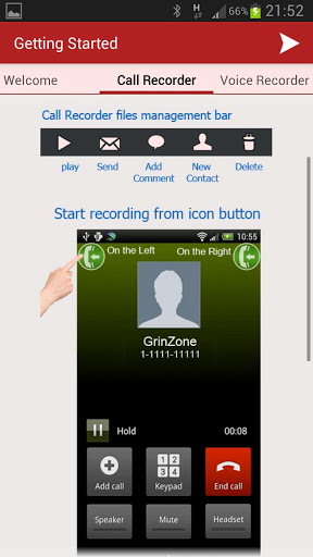 In Call Recorder use
