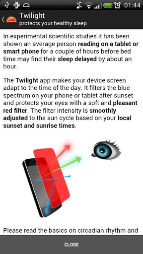 Twilight app use