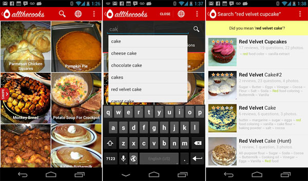 Recipe search adding the missing spice to your favorite foods android recipe search forumfinder Gallery