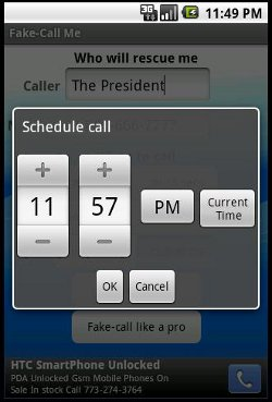 fake call me pro scheduler