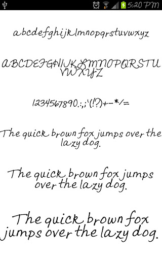 handwriting for flipfont
