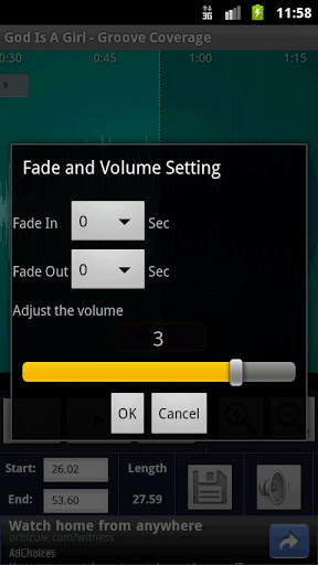 ringtone maker settings