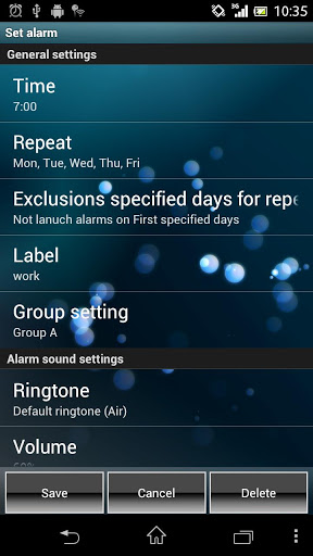 smart alarm android