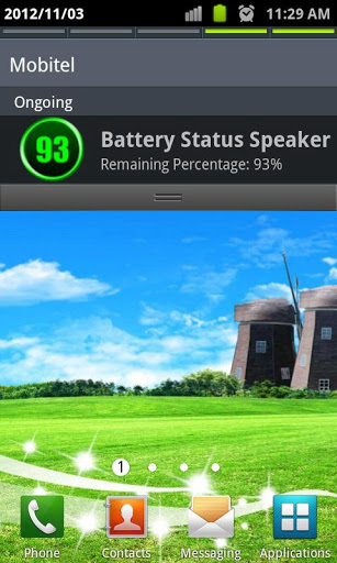 Battery Status Speaker