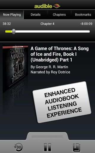 audible book reading