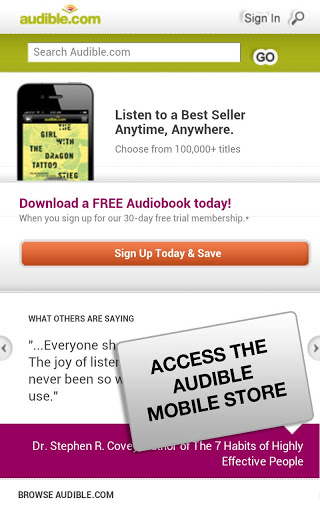 audible book store
