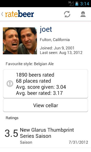 rate beer ratings