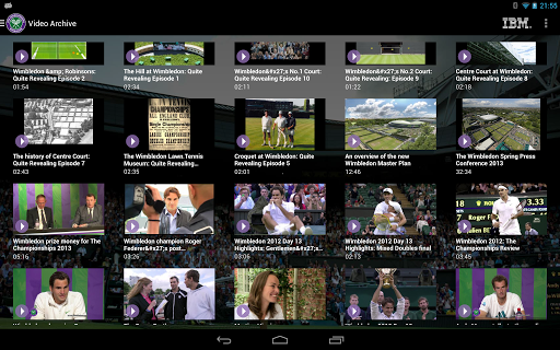 Wimbledon videos