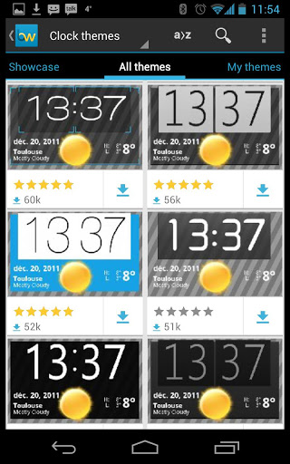 bw clock themes