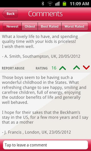 daily mail online comments