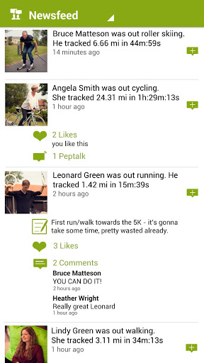 endomondo newsfeed