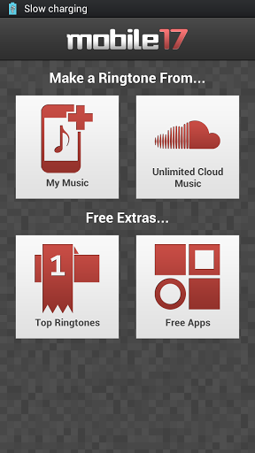 ringtone maker menu