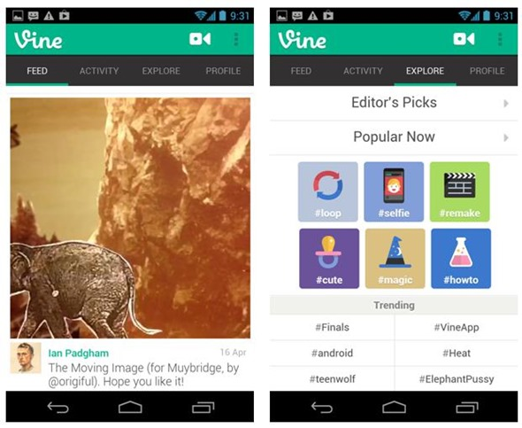 Android Finally Gets Vine App – And It Has Something that the iOS App Doesn't