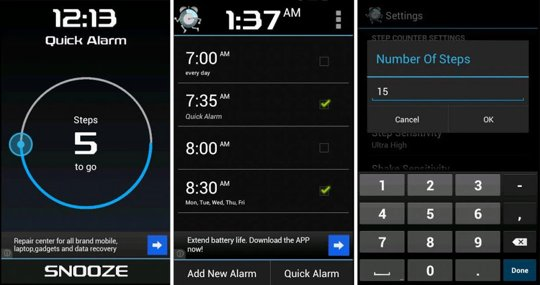 Top 4 Android Alarm Clock Apps for 2013