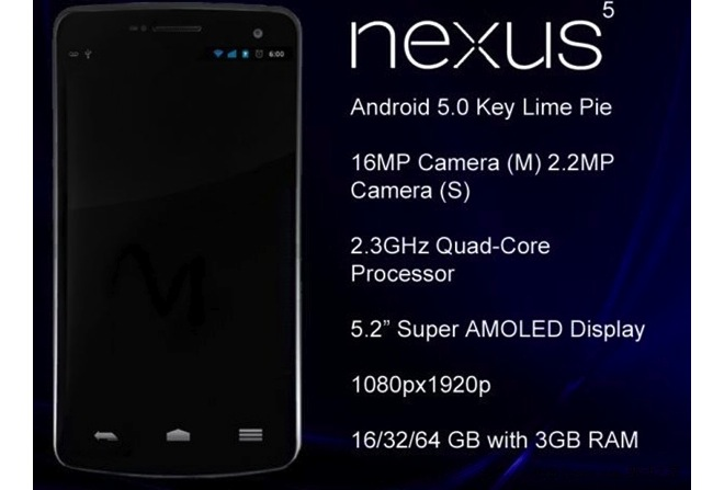 Nexus 5 Rumor Roundup – The First Android with Key Lime ...