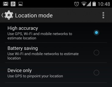 gps battery savings android