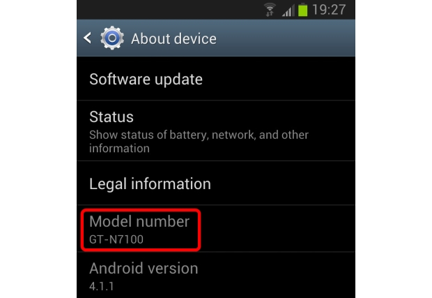 android model number