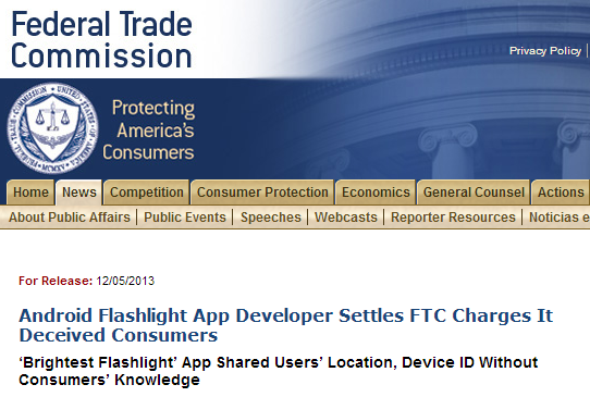 ftc brightest flashlight app
