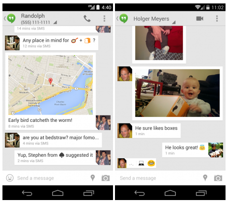 hangouts sms app android 4-4