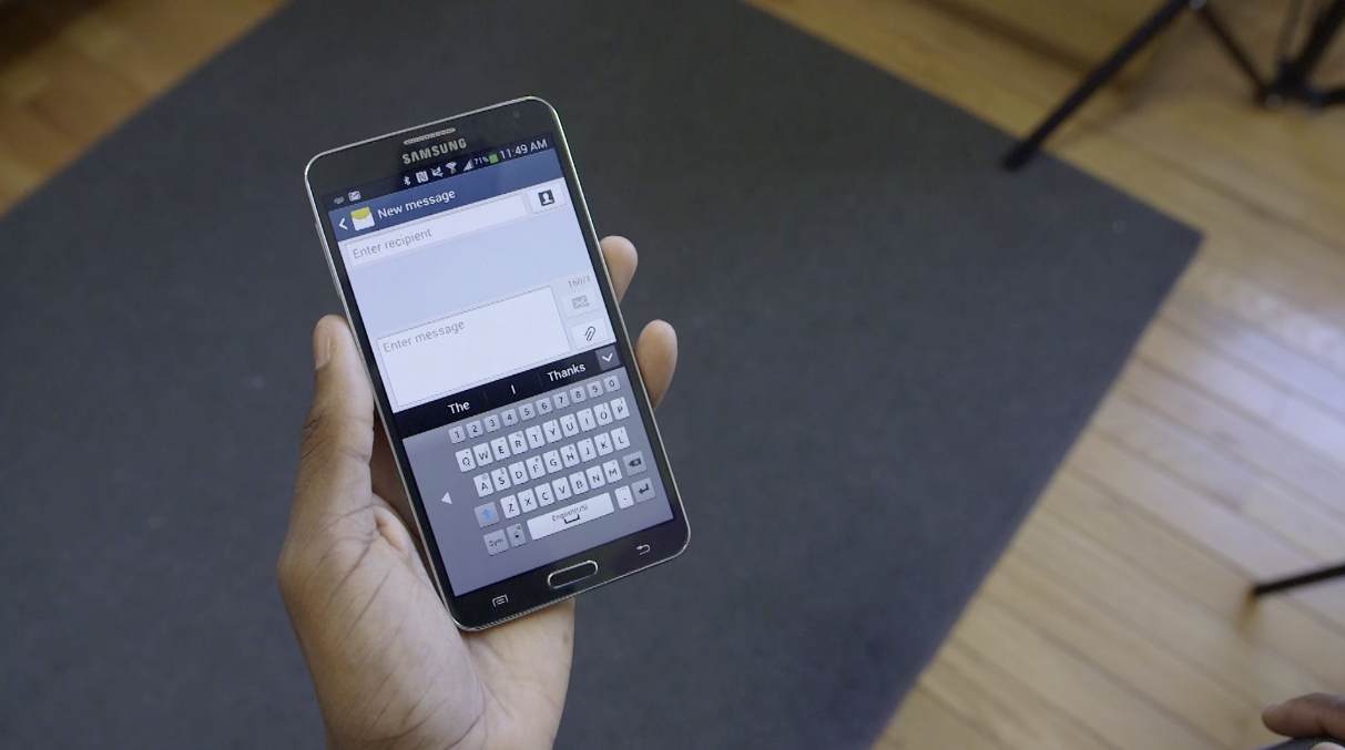 The Secret to Typing One-Handed on Larger Samsung Devices and Other Androids