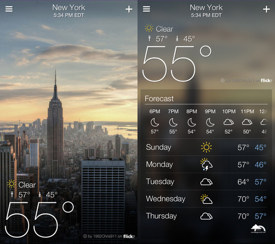yahoo weather 1