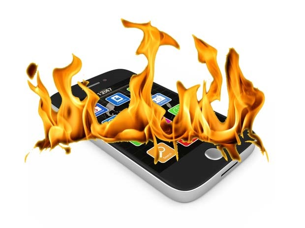 android on fire