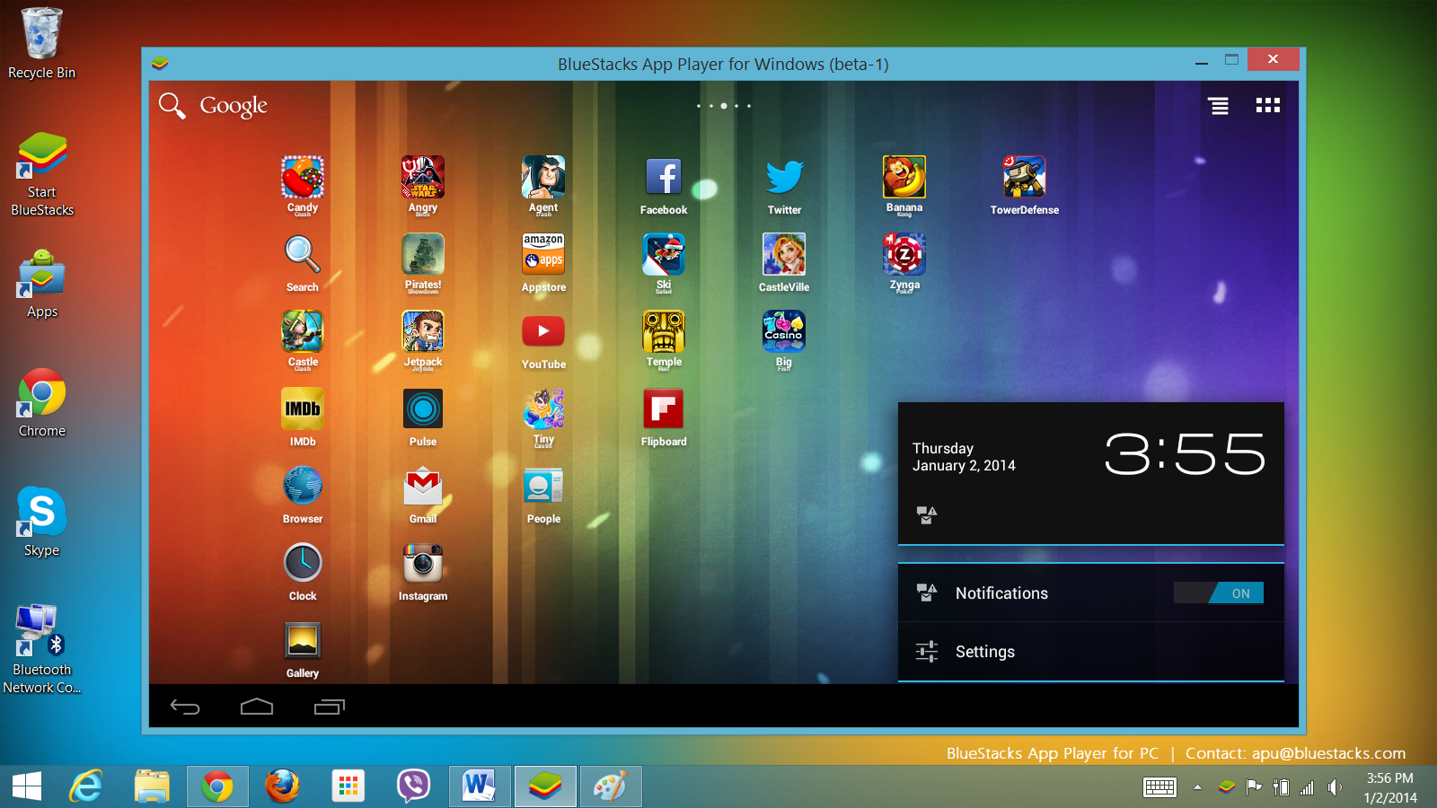 most common bluestacks android emulator for windows pc free download if