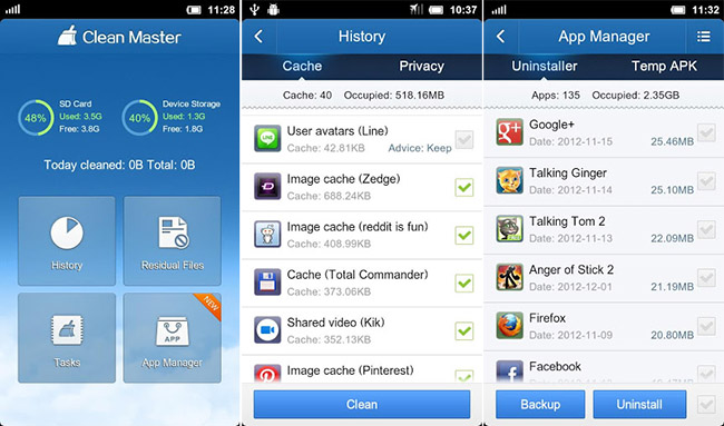 clean master is the most popular Android utilities app