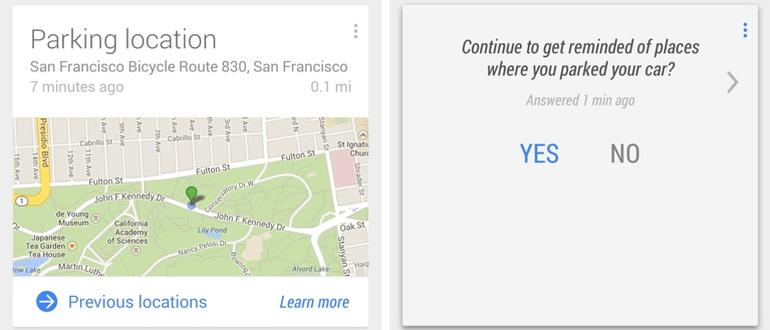 How to Use Google Now to Remember your Parking Spot