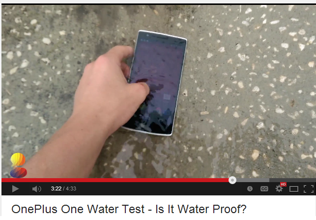 This OnePlus One Waterproof Test Video is Amazing