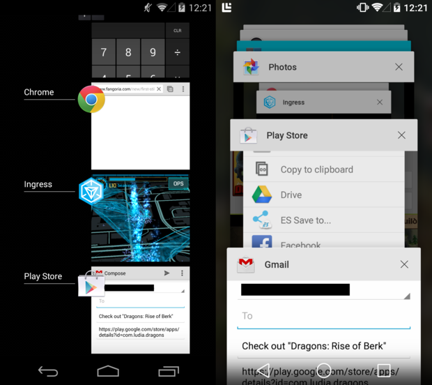 new recent apps android l