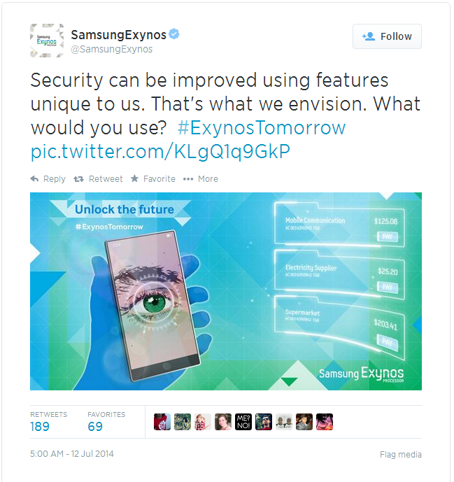 Samsung Tweet Suggests Galaxy Note 4 Will Include a Retinal