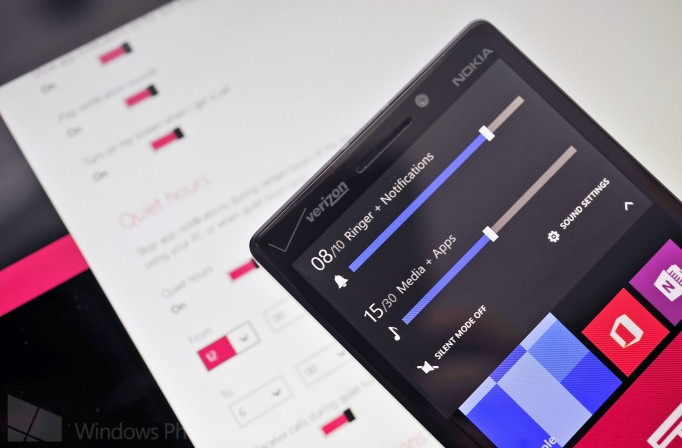 windows phone volume