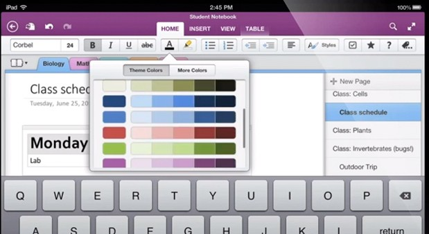 OneNote for Android Tablets Added, With Handwriting Support