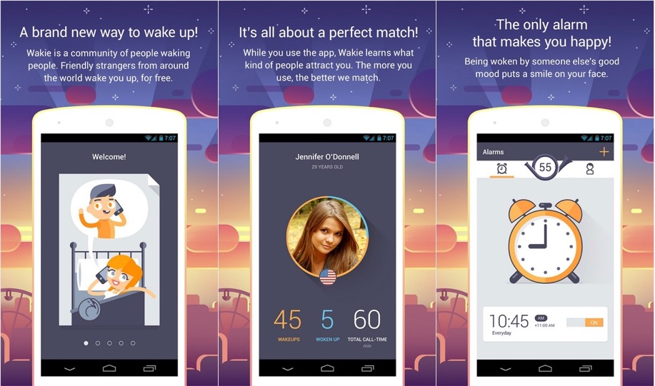 "Meet Wakie, the ""Social Alarm Clock"" Where Real People Wake You Up"